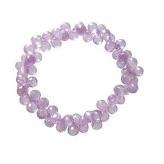 Purple crystal elastic bracelet