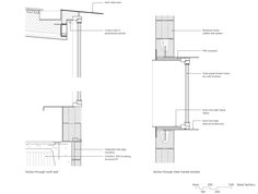 Image 19 of 21 from gallery of Sunnybanks House / Core Collective Architects. Detail Sections Roof Architecture, Architecture Details, Roof Truss Design, Window Reveal, Window Detail, Roof Trusses, Roof Colors, Roof Styles, Cladding