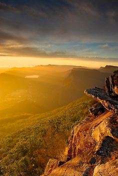 Boroka Lookout, Grampians National Park, Victoria, Australia- a golden shine over the whole sky- really mind blowing - Beth Ziehl - Pin To Travel Outback Australia, Australia Travel, Melbourne Australia, Western Australia, Hello Australia, Oh The Places You'll Go, Places To Visit, Beautiful World, Beautiful Places