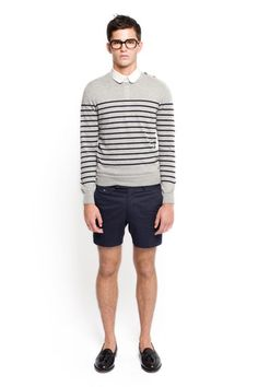 my kind of shorts. shoes look great. glasses fit well. my summer wear without the sweater.