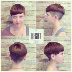 asymmetric bowl cut