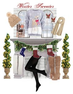 """""""Winter Sweater <3"""" by estefannilgv ❤ liked on Polyvore featuring Brewster Home Fashions, Kavka, NOVICA, Boohoo, claire's, Loro Piana, Calypso St. Barth, Steve Madden and Charlotte Tilbury"""