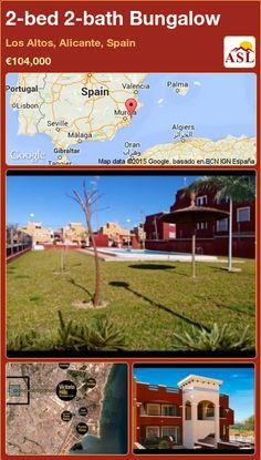Bungalow for Sale in Los Altos, Alicante, Spain with 2 bedrooms, 2 bathrooms - A Spanish Life Victoria Hill, Bungalows For Sale, Alicante Spain, Ground Floor, Costa, Spanish, Bathroom, Bed, Life