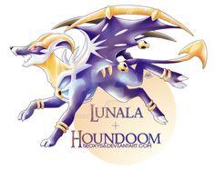 Lunala x Houndoom by Seoxys6