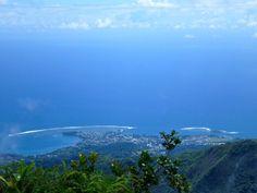 View from the Mont Aorai Tahiti Moorea French Polynesia