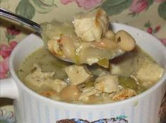 View photo White Chicken Chilli, Chicken Chili, Cooked Chicken, Chicken Soup, Chili Recipes, Soup Recipes, Dinner Recipes, Game Recipes