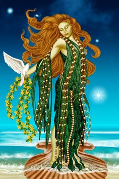 Aphrodite Correspondences - sacred animals- dolphin, the dove, the swan, the hare, the sparrow, the goose and the partridge, and her day of the week is Friday. Plants sacred - apples, myrtles, lettuce, rose and lime trees. Suitable offerings - chocolate, honey, wine, pomegranates, perfume and roses. Colours - gold, copper, yellow, pink and aquamarine, crystals - rose quartz and aventurine. Associated symbols - scallop shell, mirror, girdle -Pinned by The Mystic's Emporium on Etsy