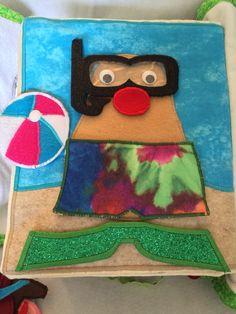 mr potato head snorkeling Mr Potato Head, Potato Heads, Busy Book, Satin Stitch, Snorkeling, Felt, Button, Beads, Fabric