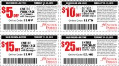 38 best coupons images on pinterest coupon coupons and salems lot hancock fabrics coupons fandeluxe Image collections
