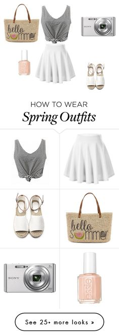 """summer outfit 2016"" by mlroobol on Polyvore featuring Straw Studios, Sony, Essie and summerbrights"