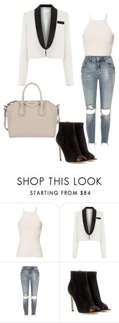 """Untitled #221"" by arijana-cehic ❤ liked on Polyvore featuring River Island, Racil, Gianvito Rossi and Givenchy"