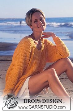DROPS Jersey in Paris with structure and raglan sleeves Free knitting pattern by DROPS Design. Sweater Knitting Patterns, Knit Patterns, Free Knitting, Drops Design, Raglan Pullover, Pull Long, Make Your Own Clothes, Jumpers For Women, Crochet Clothes