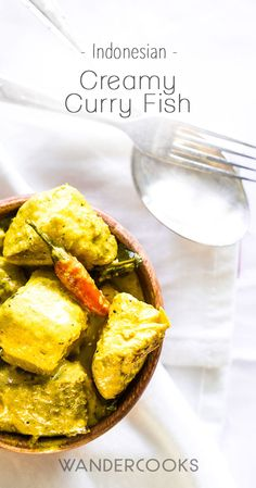 Creamy Indonesian Curry with Fish (Kari Ikan) - Creamy coconut, tangy lemongrass and tender white fish. Delicately spiced, this aromatic recipe is a winter curry winner.   wandercooks.com via @wandercooks