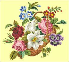 Unmarked Flower Basket