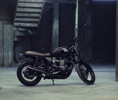 Blacked out Triumph Boneville T-100 VTwin