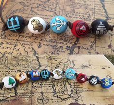 DOUBLE NECKLACE DEAL: Percy Jackson Necklace (5 Beads) + Annabeth Chase Necklace (9 Beads) or 2 Percy Jackson Necklaces (5 Beads Each) by AngeTheArtist on Etsy https://www.etsy.com/listing/511879939/double-necklace-deal-percy-jackson