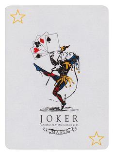 Joker Playing Card, Joker Card, Trump Card, Vintage Playing Cards, Jokers, My Mood, Artwork, House, Inspiration