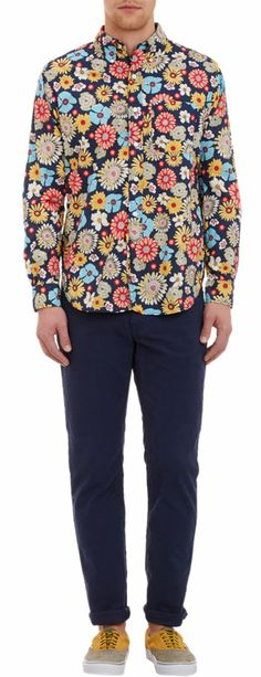 Engineered Garments Flower-Print Shirt at Barneys.com