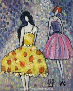 joanie springer art   ... gouache and ink figurative painting by gouache artist Joanie Springer