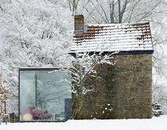 Home Deco, 4 Murs, Interior Exterior, Interior Architecture, Exterior Design, Glass Room, Glass Walls, Glass Boxes, Glass Cube