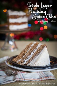 Triple Layer Holiday Spice Cake with Eggnog Frosting by Irvin Lin of Eat the Love. www.eatthelove.com