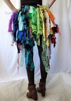 Rainbow RagTag Bustle by DROPCITYapparel on Etsy
