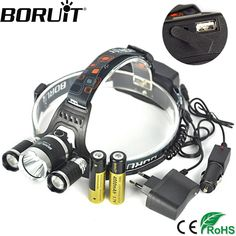 12000LM 3 x XML CREE T6 LED Rechargeable HeadTorch Headlamp Light Lamp Fine Best