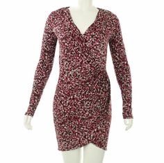 AK Anne Klein Women's Printed Long Sleeve Wrap Dress #workdresses
