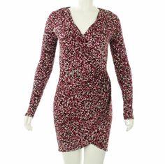 AK Anne Klein Women's Printed Long Sleeve Wrap Dress #workdresses