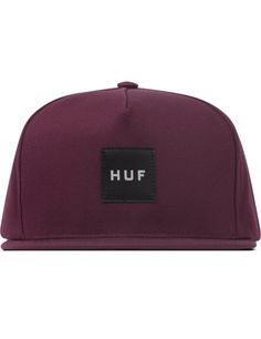 Shop HUF Wine Box Logo Snapback  at HBX. Free Worldwide Shipping available.