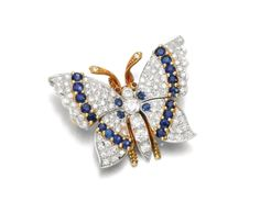 Diamond and Sapphire butterfly | Duchess of Devonshire