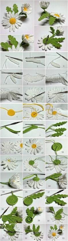 Apprenez à faire une belle marguerite modèles au crochet gratuit | sites crochet de modèle gratuit