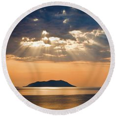 Tropics Round Beach Towel featuring the photograph Blessing From Heaven by Kristina Abramovic