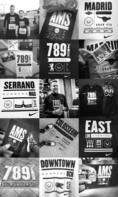 Nike Run Clubs by ILOVEDUST, via Behance