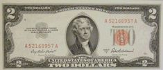 Two dollars red seal.note - Go Shop Coins Rare Coins Worth Money, Valuable Coins, 2 Dollar Bill Value, Dollar Usa, Dollar Bills, Money Notes, Two Dollars, Coin Worth, Coin Values