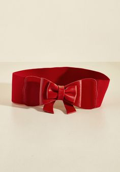 Bow, Baby! Belt in Ruby - Red, Solid, Bows, Party, Pinup, Vintage Inspired, Spring, Faux Leather, Good, Americana