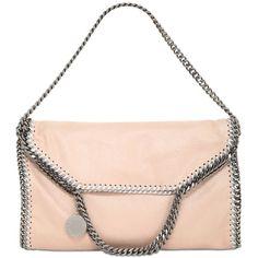 STELLA MCCARTNEY 3chain Faux Shaggy Deer Shoulder Bag (€1.085) ❤ liked on Polyvore featuring bags, handbags, shoulder bags, nude, faux handbags, pink purse, stella mccartney purses, nude purses and stella mccartney handbags