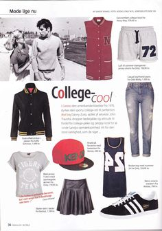 """College cool"" - Odd Molly casual boyfriend fit jeans in Femina Denmark, July 2013"