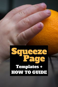 Squeeze pages are so important for That's why I have for you a squeeze page template and how to guide so you can make squeeze pages quickly and easily for free. squeeze page templates Business Emails, Business Marketing, Online Business, Business Quotes, Sales And Marketing, Email Marketing, Internet Marketing, Marketing Tools, Page Template