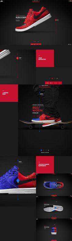 Nike #UI #UX Dark design / dark website / dark graphic design inspiration