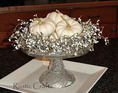 White Pumpkins to Decorate for Fall - All Things Heart and Home