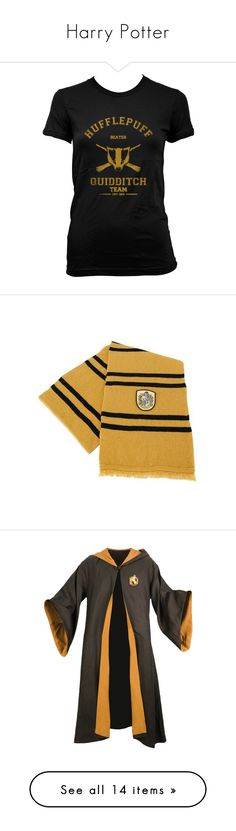 """Harry Potter"" by the-infinite-anons ❤ liked on Polyvore featuring tops, t-shirts, harry potter, hufflepuff, black, women's clothing, sleeveless t shirt, sleeveless tops, sleeveless tee and scarves"