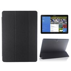 Samsung Galaxy Note & Tab Pro 12.2 3-fold case, cover, hoes zwart