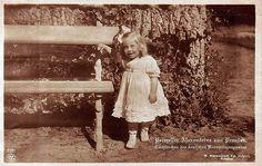 Princess Alexandrine of Prussia, eldest daughter of Crown Prince Friedrich Wilhelm, as a toddler.