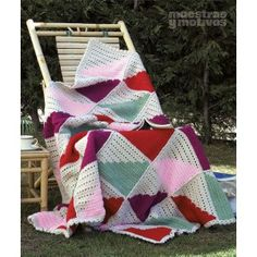 EMANTAS 0201: Manta para tejer a crochet. Medidas: 155 x 165 cm. 2,40€. #muestrasymotivos #mantas #crochet