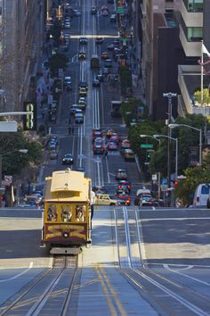 Ahh... Don't you just love the downhill speed of a cable car in San Francisco?? ~~~~ except when you are speeding backwards because the brakes stopped working, the conductor is clanging the bell and you are standing on the outside as my husband and I always did.  VERY scary experience!!!!!!!!!