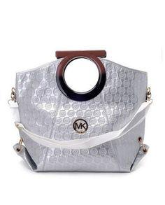 Michael Kors Handbags Sale Leather Clutches Silver Mirror Metallic