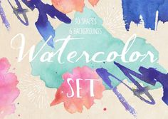 Hand-Painted Watercolor Set by FLORA CREATIONS on Creative Market