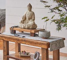 Creating a Home Altar and Meditation Space – DharmaCrafts Meditation Corner, Meditation Room Decor, Meditation Altar, Meditation Space, Home Yoga Room, Zen Room, Buddha Decor, Zen Space, Home Altar