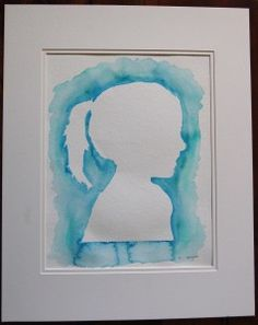 Christmas gifts from the kids...watercolor silhouette